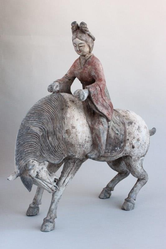 Chinese Pottery Horse and Rider,