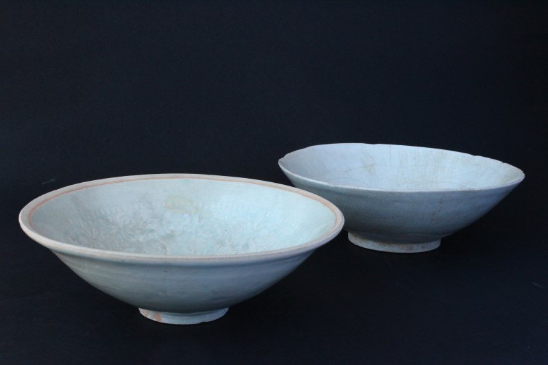 Two Chinese Porcelain Ding Ware Bowls,