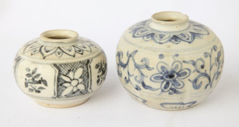 Two Annamese Blue and White Jarlets,