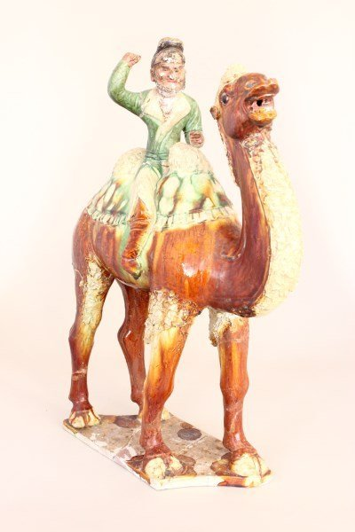 Late Qing Dynasty Tang Style Camel and Rider,