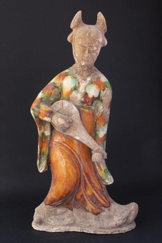 Chinese Tang Style Sancai Glazed Figure,
