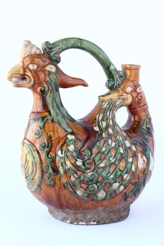 Chinese Sancai Glazed Ewer,