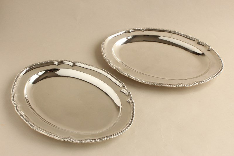 Pair of George III Sterling Silver Serving Dishes,