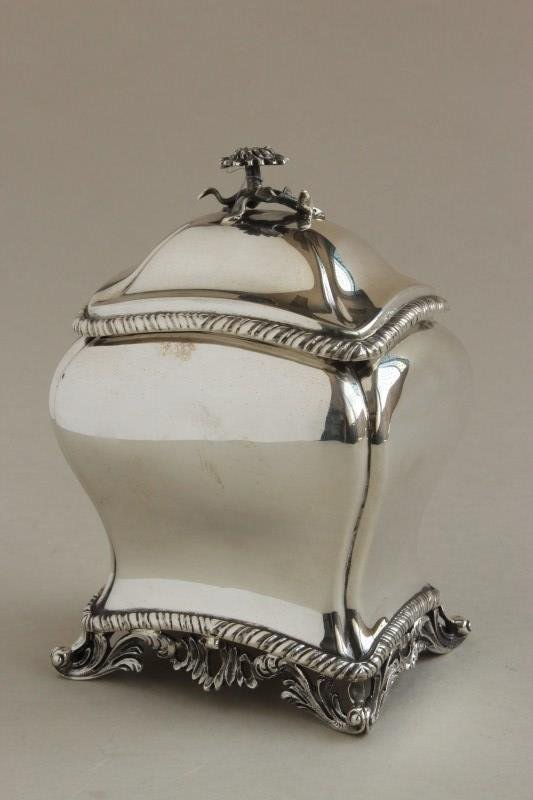 Victorian Sterling Silver Tea Caddy,