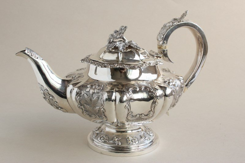 Victorian Sterling Silver Teapot,