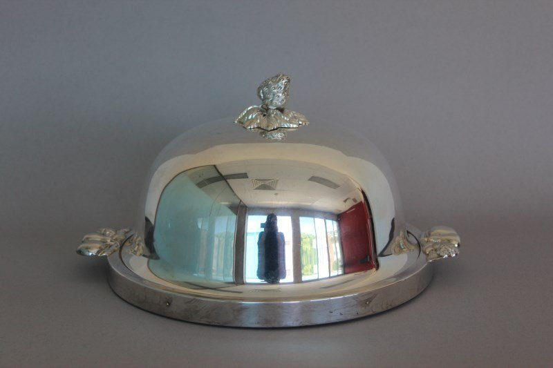 Silver Plate Circular Bread/Cheese Board and