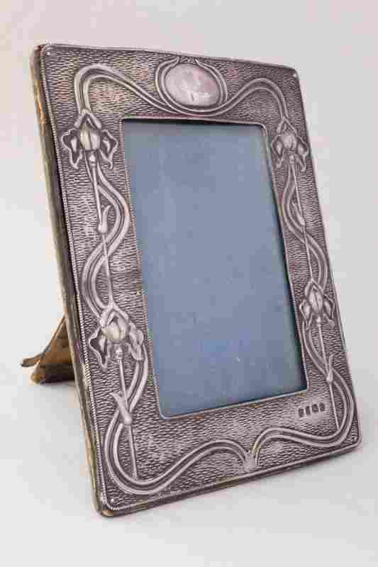 Edwardian Silver Art Nouveau Photo Frame,
