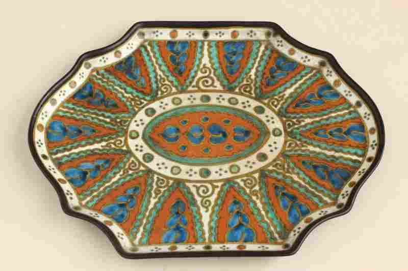 Gouda Pottery 'Collier' Design Tray,