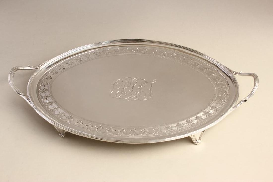 Magnificent George III Sterling Silver Twin Handle