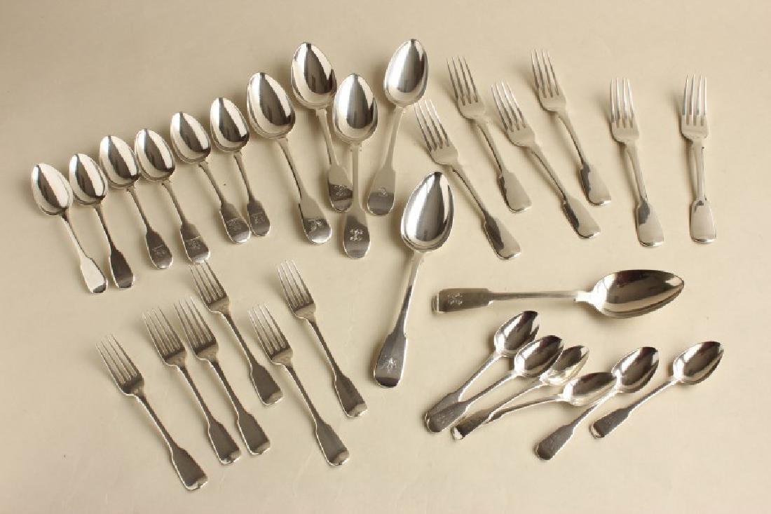 Georgian Sterling Silver Cutlery Service,