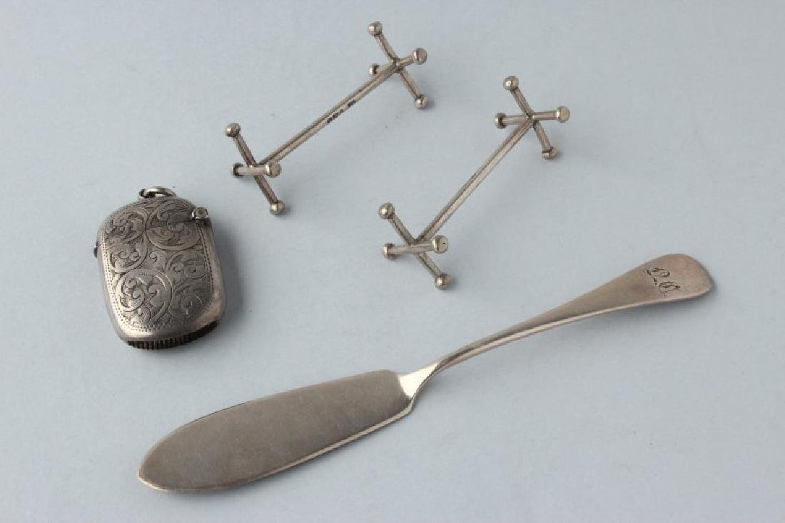 Melange of Sterling Silver, Including a Pair of