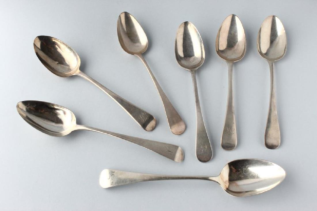 Seven George III Sterling Silver Table Spoons,