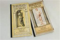Pair of Bailliere's Popular Atlas of the Anatomy,