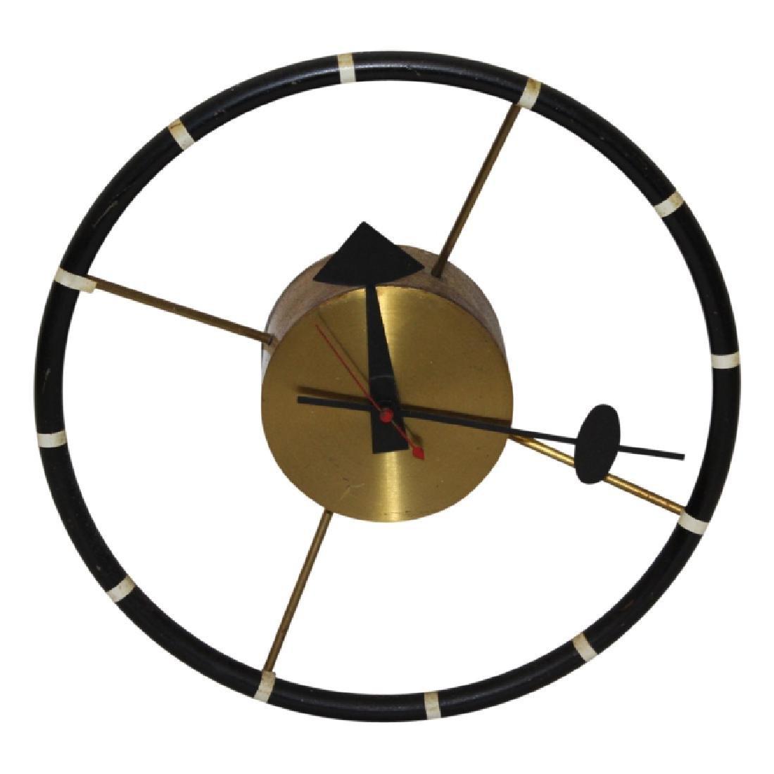MCM George Nelson Steering Wheel  Wall Clock
