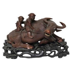 Asian Bull Carving