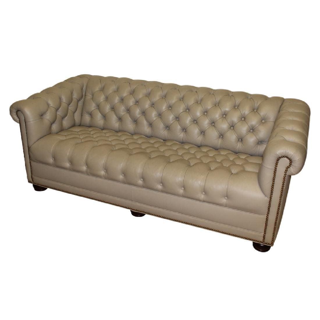 2 Hancock Moore Chesterfield Sofa Loveseat