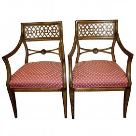 Pair of Bench Made Regency Chairs