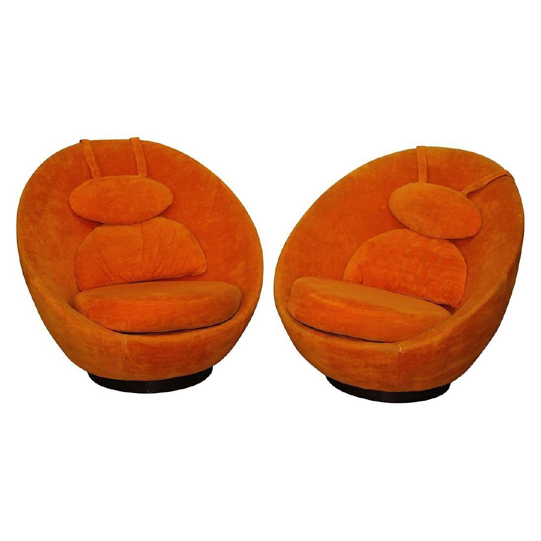 2 Milo Baughman for Thayer Coggin Swival Chairs