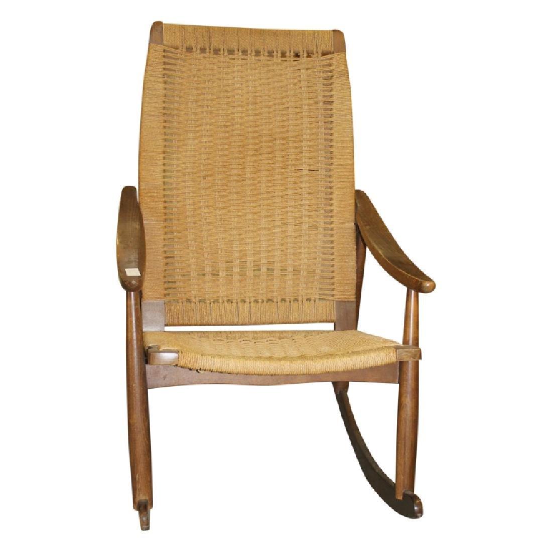Mid Century Modern Cane Rocking Chair