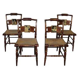 Norman Rockwell Edition Hitchcock Side Chairs - 4