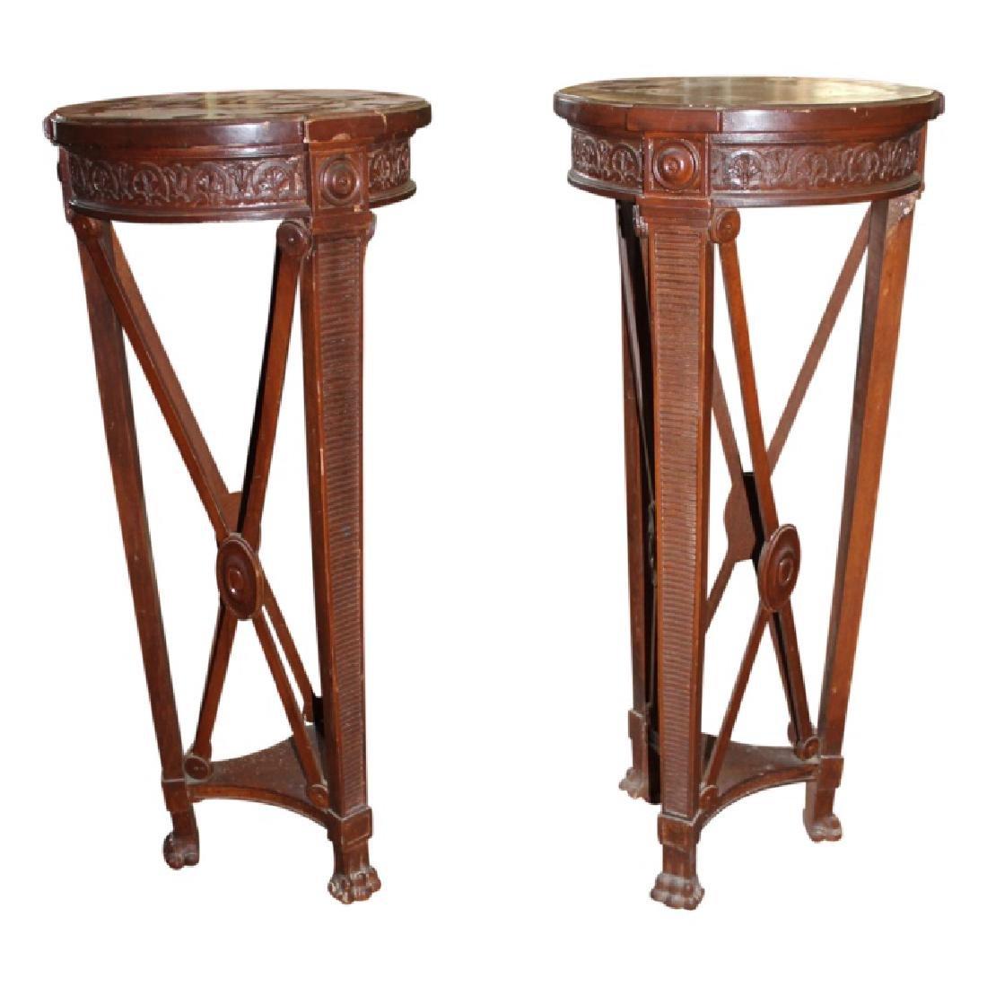 Pair of Georgian Style Pedestals