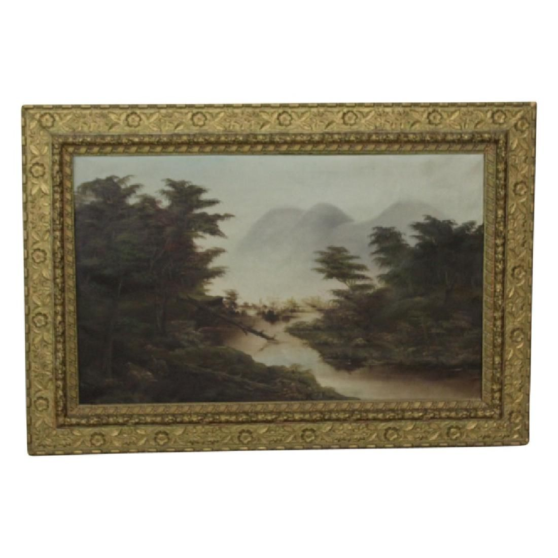 Oil on Canvas Mountain Scene - SIGNED