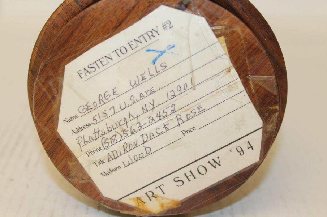"""Adiron Dack Rose"" Wood Carved Music Box - 2"
