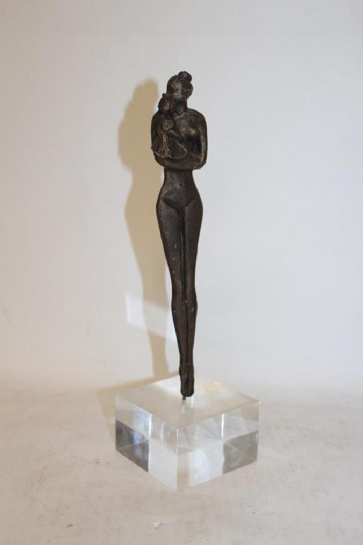 Bronze Figure on Lucite Base