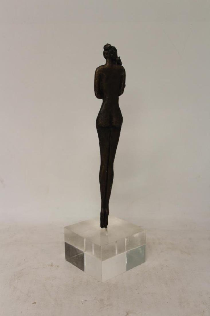Bronze Figure on Lucite Base - 2