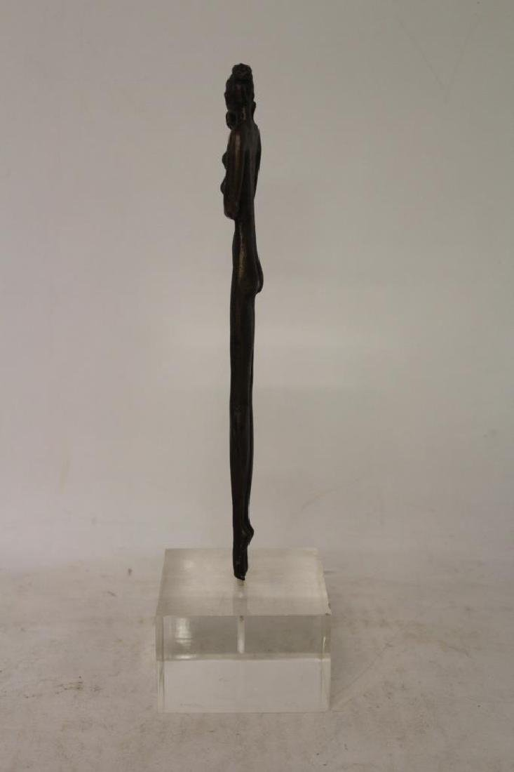 Bronze Figure on Lucite Base - 4