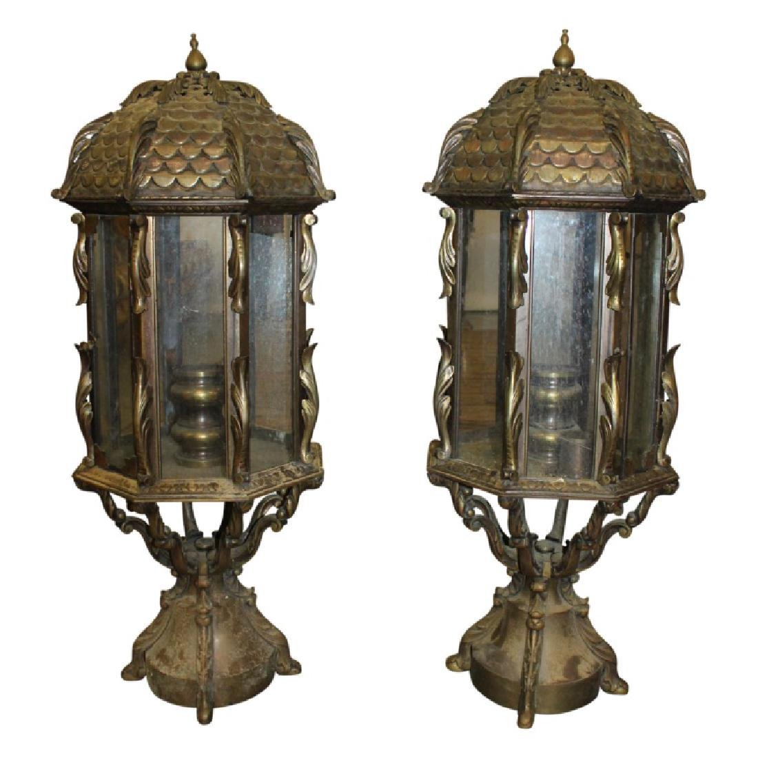 Pair of Lightpost Lanterns