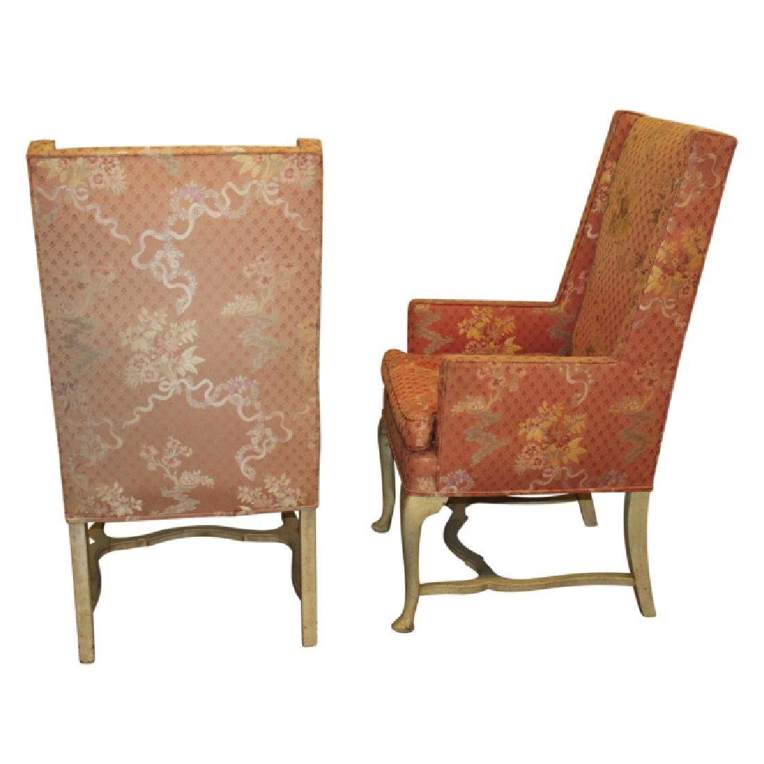 Pair of Upholstered French Fireside Chairs - 2