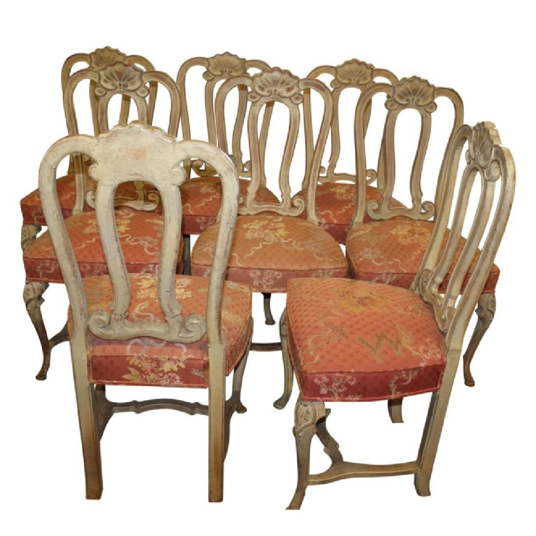French Upholstered Dining Chairs - 8PCS