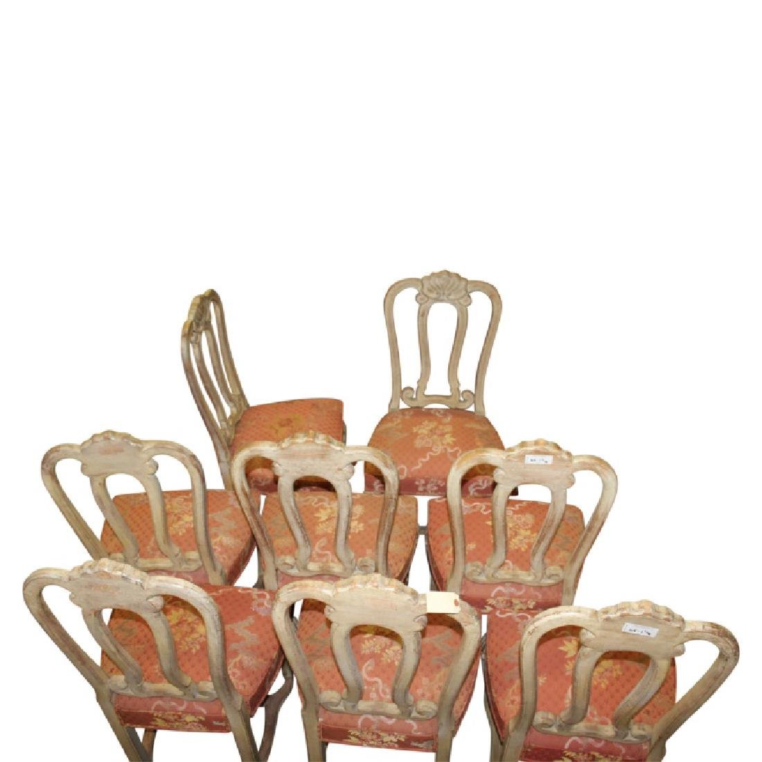 French Upholstered Dining Chairs - 8PCS - 4