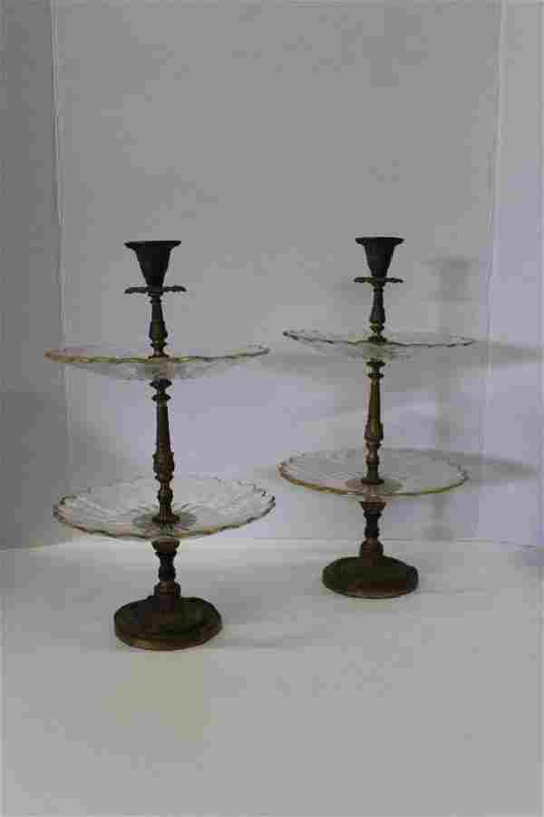 Pair of 2 Tier Candle Servers