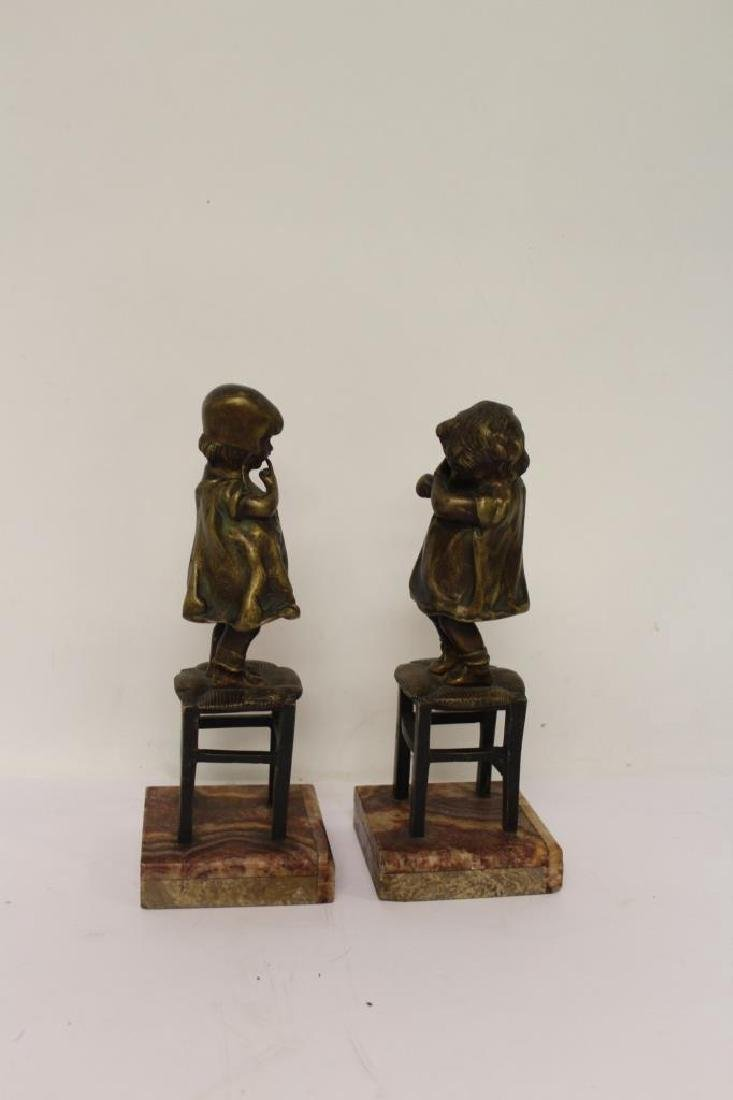 Pair of Bronze Bookends - 3