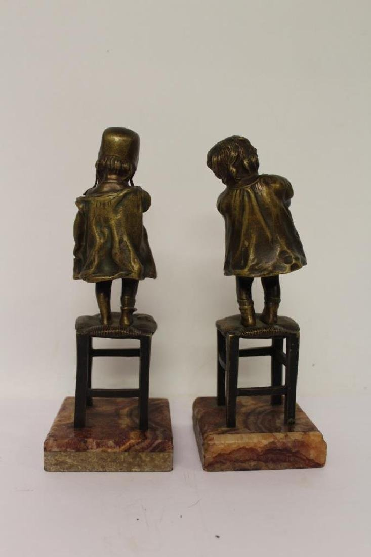 Pair of Bronze Bookends - 4