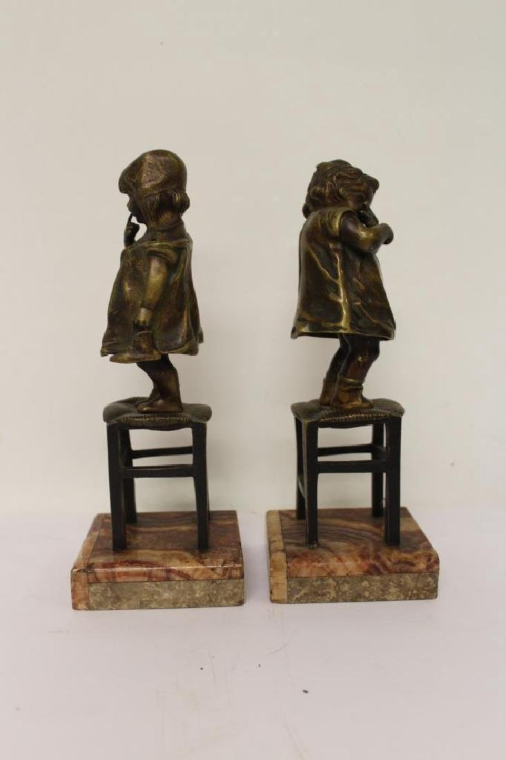 Pair of Bronze Bookends - 5