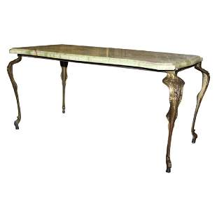 Stunning Antique Coffee Table with Onyx top