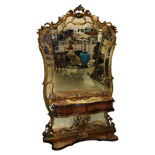 French Console and Mirror