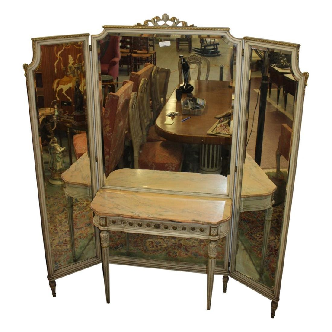 French Triple Vanity