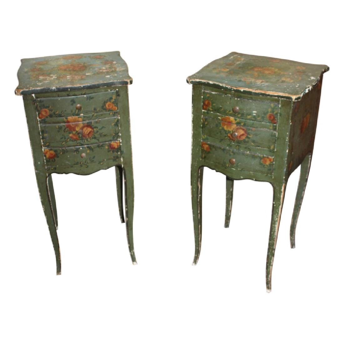 Pair of Antique French Nightstands