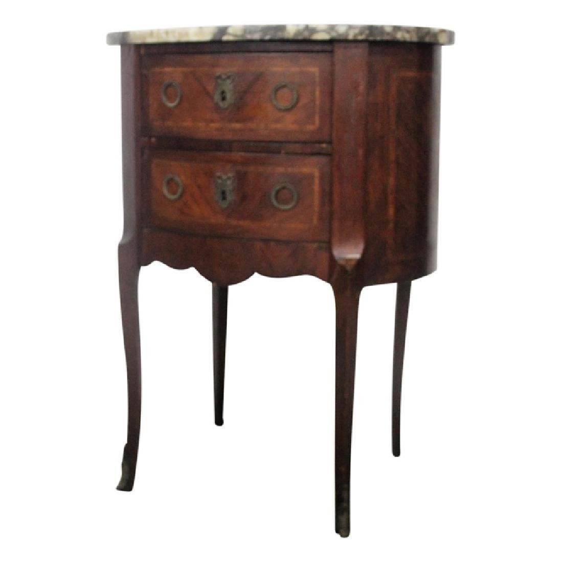 Antique French Marbletop Nightstand