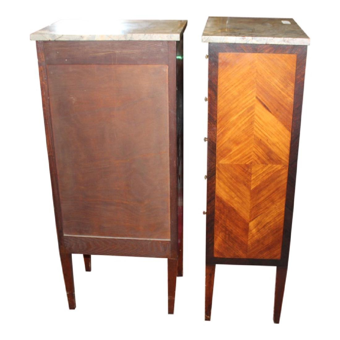 Pair of Marble Top Lingerie Chests - 3