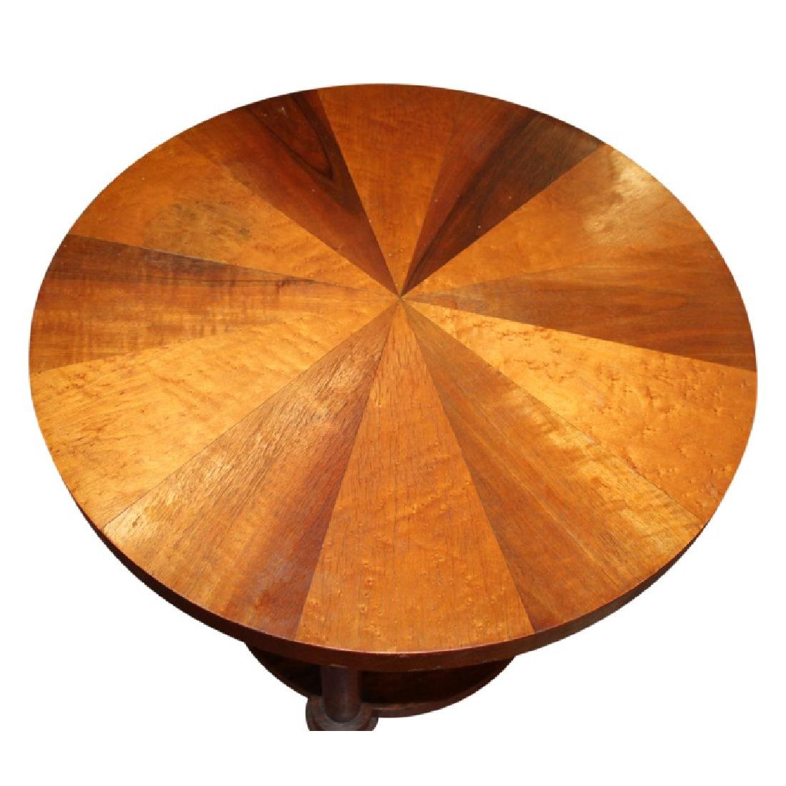 Modern Sunburst Biedermeier End Table - 3