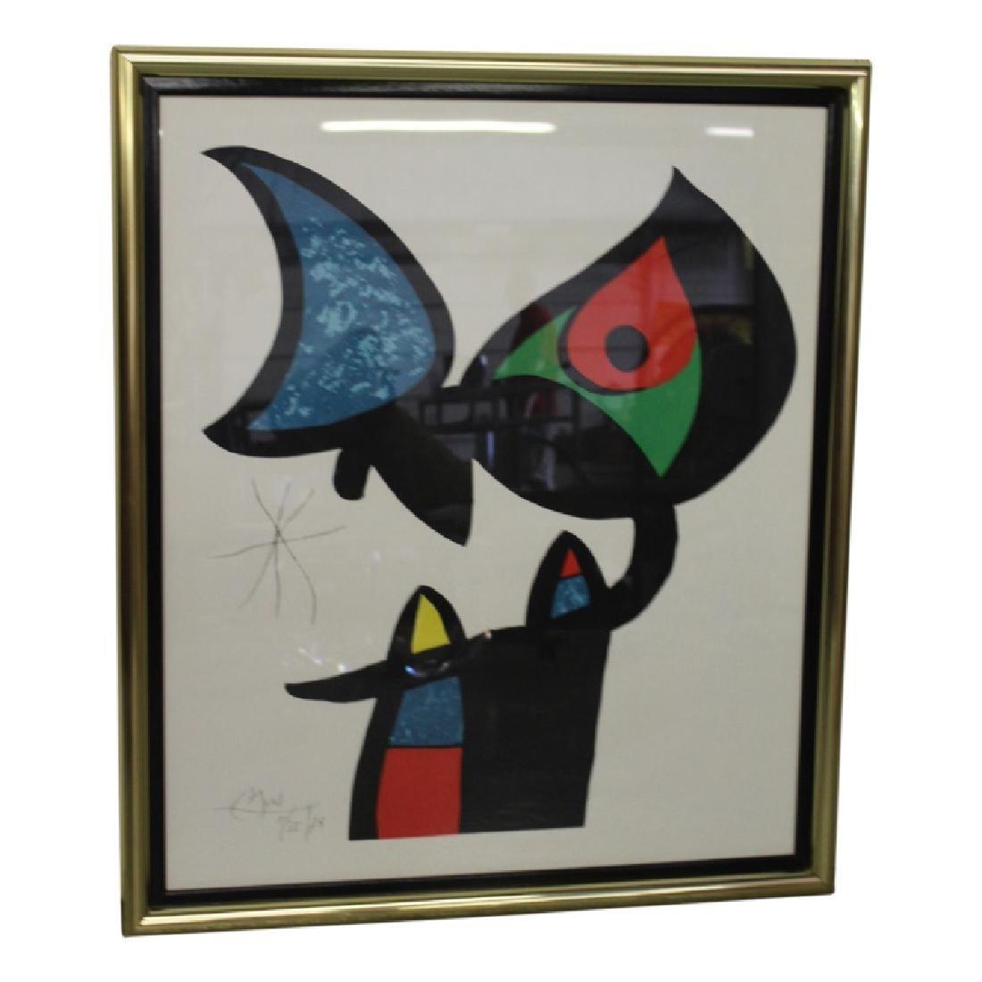 Espriu by Joan Miro Lithograph