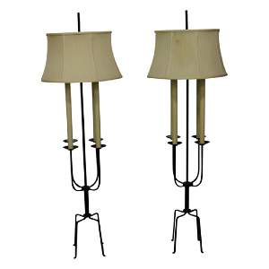 Pair of Tommi Parzinger Floor Lamps