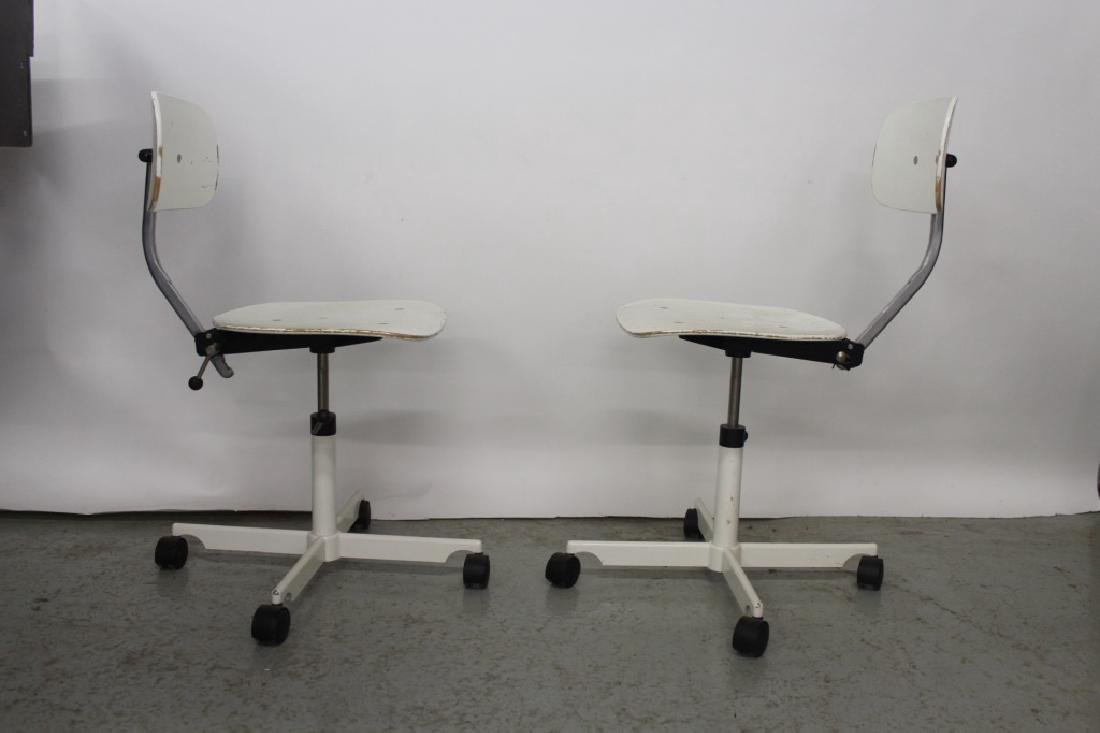 Pair of White Kevi Office Chairs - 3