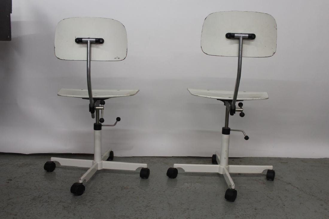 Pair of White Kevi Office Chairs - 4