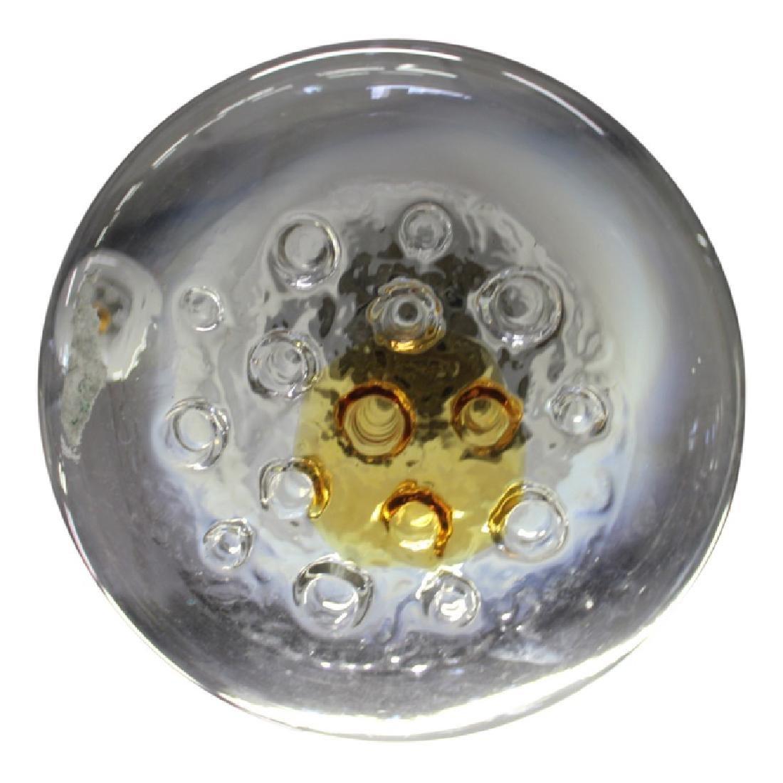 Mazzega Murano Glass 1 Shade Chandelier - 3